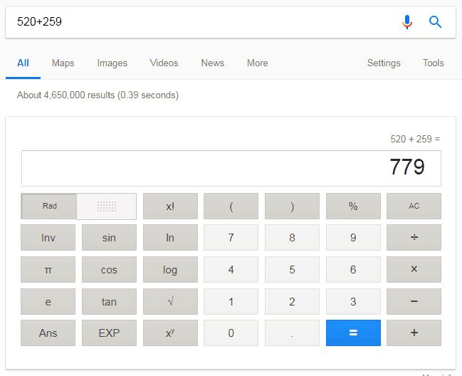 google kalkulator